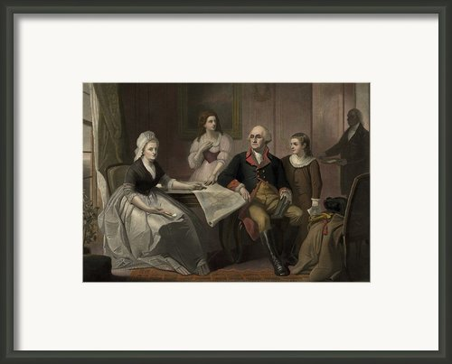 George And Martha Washington Sitting Framed Print By Everett