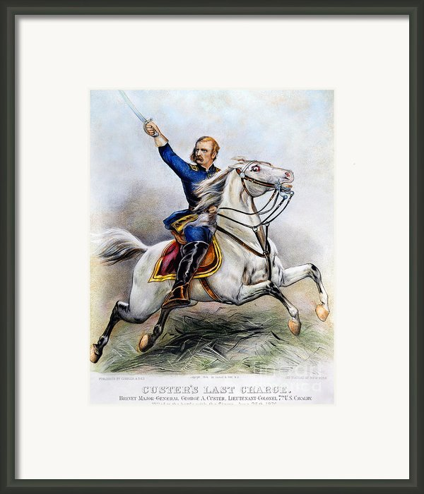 George Armstrong Custer Framed Print By Granger