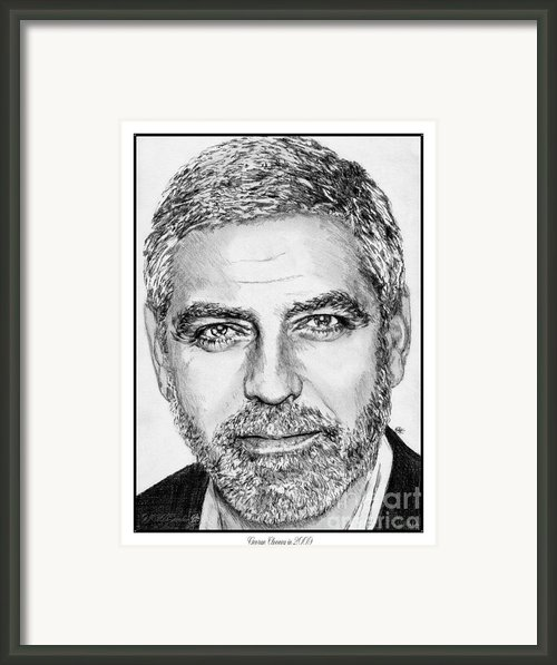 George Clooney In 2009 Framed Print By J Mccombie