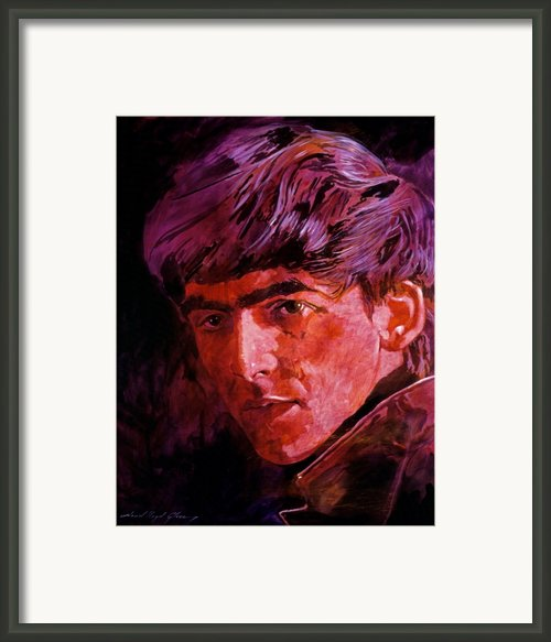 George Harrison Framed Print By David Lloyd Glover