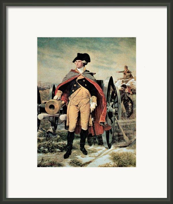 George Washington At Dorchester Heights Framed Print By Emanuel Gottlieb Leutze