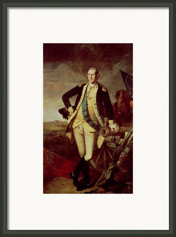 George Washington At Princeton Framed Print By Charles Willson Peale