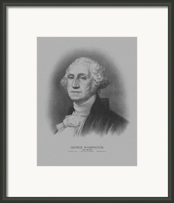 George Washington Framed Print By War Is Hell Store