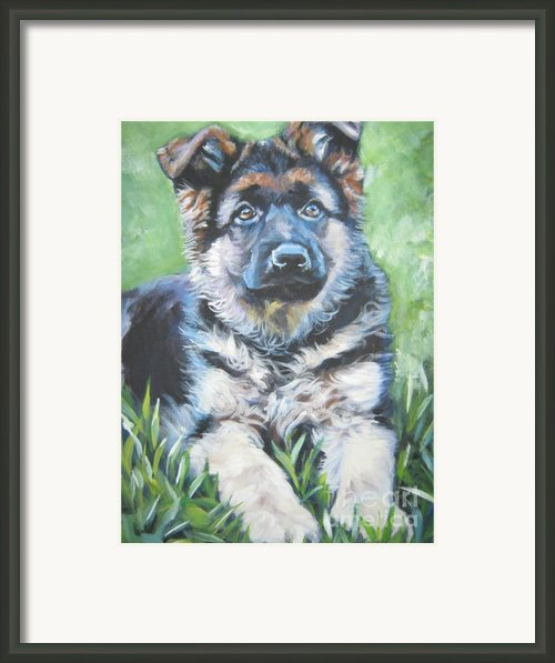 German Shepherd Puppy Framed Print By Lee Ann Shepard