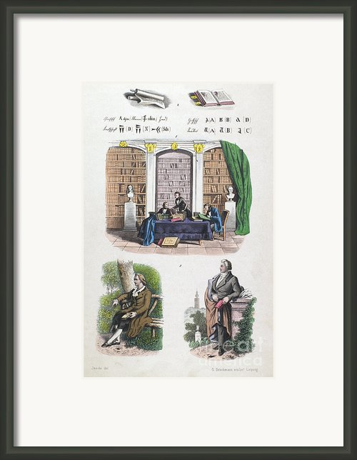 Germany: Library, C1840s Framed Print By Granger