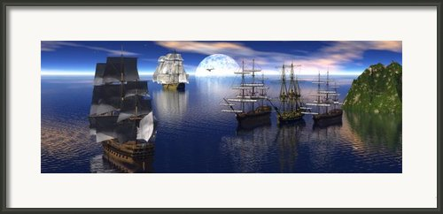 Getting Underway Framed Print By Claude Mccoy