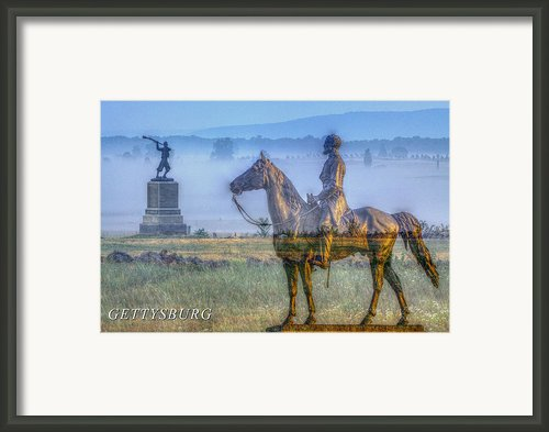 Gettysburg Battlefield Framed Print By Randy Steele