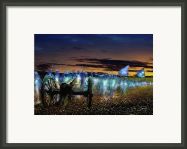 Gettysburg Confederates Framed Print By Tom Straub