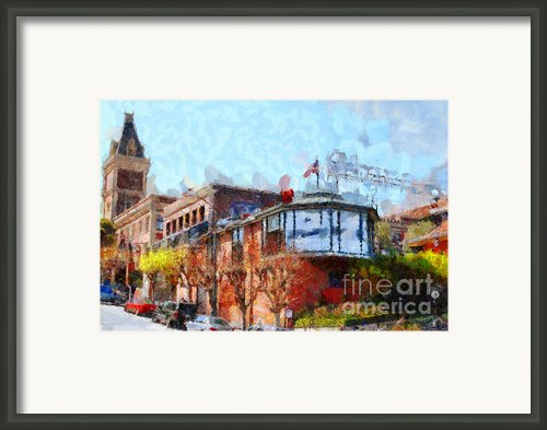 Ghirardelli Chocolate Factory San Francisco California . Painterly . 7d14093 Framed Print By Wingsdomain Art And Photography