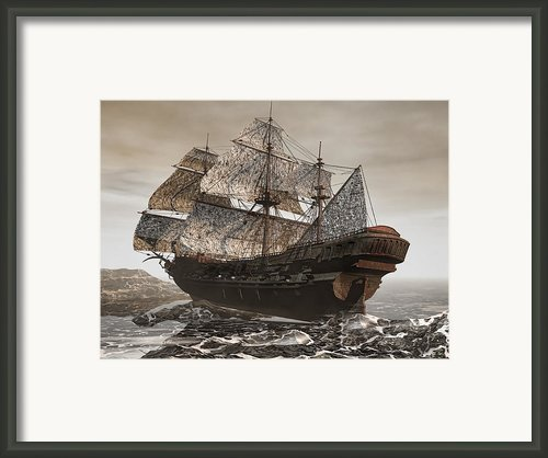 Ghost Ship Of The Cape Framed Print By Lourry Legarde