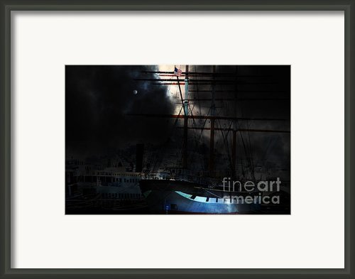 Ghost Ship Of The San Francisco Bay . 7d14032 Framed Print By Wingsdomain Art And Photography