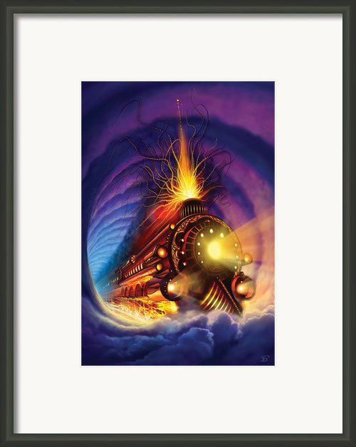 Ghost Train Framed Print By Philip Straub