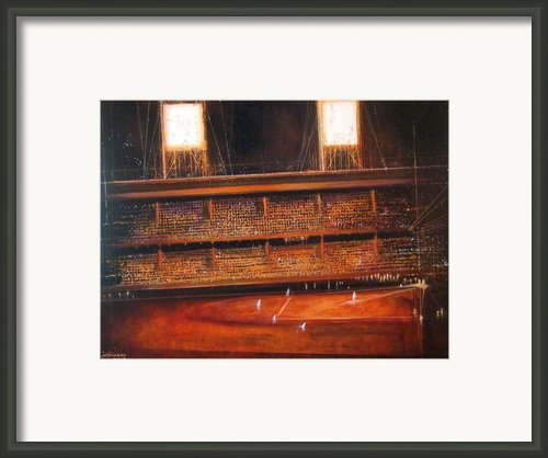 Ghosts Of Ebbets Field -- The Brooklyn Dodgers Framed Print By Charles Jos Biviano