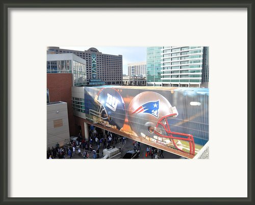 Giants Vs Patriots  Framed Print By Brittany H