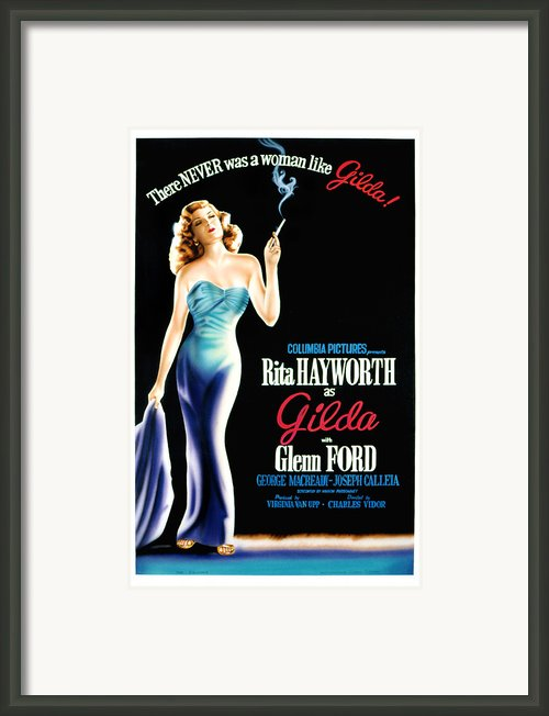 Gilda, Rita Hayworth Poster Art, 1946 Framed Print By Everett