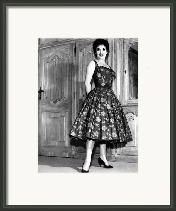 Gina Lollobrigida, 1950s Framed Print By Everett