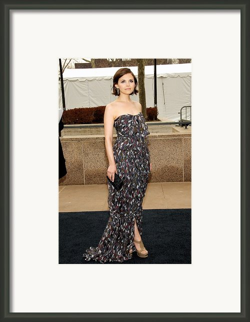 Ginnifer Goodwin Wearing A Yves Saint Framed Print By Everett