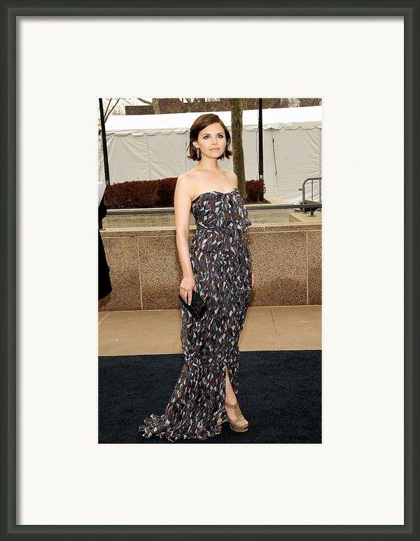 Ginnifer Goodwin Wearing A Yves Saint Framed Print By Everett