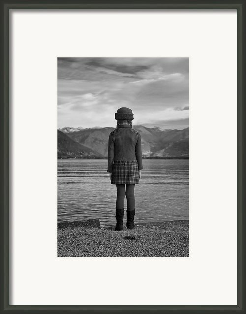 Girl At A Lake Framed Print By Joana Kruse