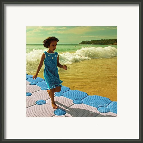 Girl In A Knitted Dress Framed Print By Paul Grand