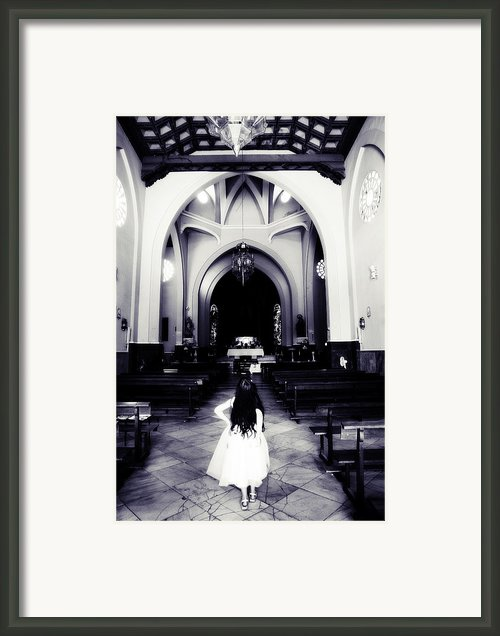 Girl In The Church Framed Print By Jenny Rainbow