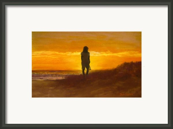 Girl On The Dunes Framed Print By Jack Skinner