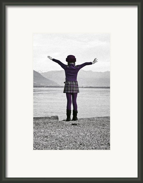 Girl On The Shores Of Lake Maggiore Framed Print By Joana Kruse