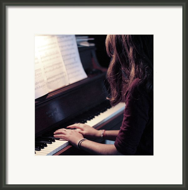 Girl Playing Piano Framed Print By Alison Titus