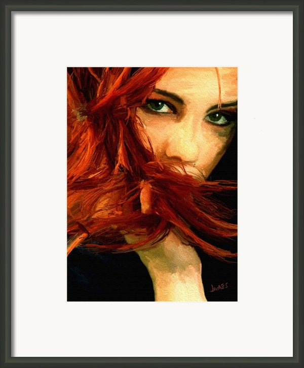 Girl Portrait 08 Framed Print By James Shepherd