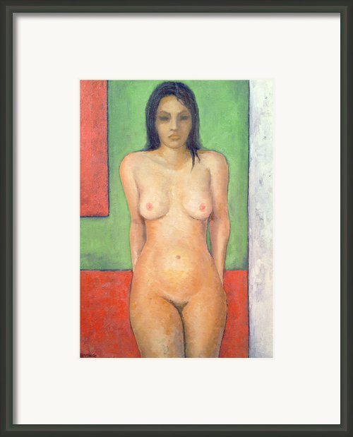 Girl Standing By Abstract Framed Print By Brian Irving