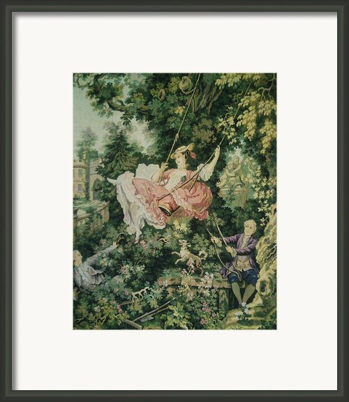 Girl Swinging Tapestry Framed Print By Unique Consignment