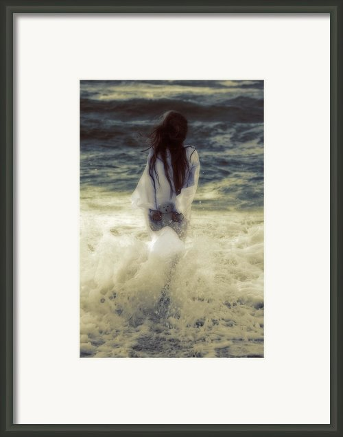 Girl With Teddy Framed Print By Joana Kruse