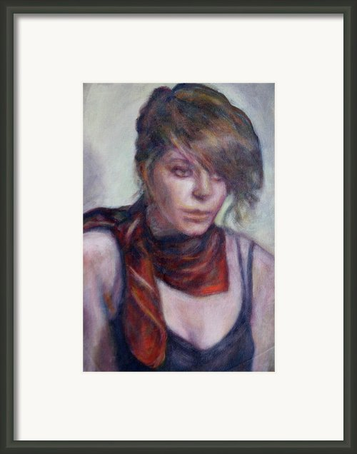Glamour Girl Framed Print By Quin Sweetman