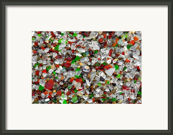 Glass Beach Fort Bragg Mendocino Coast Framed Print By Christine Till
