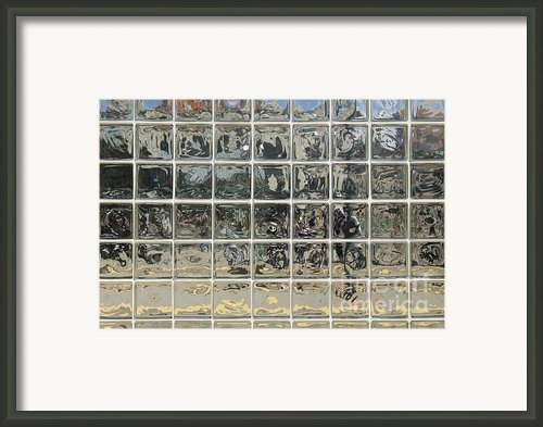 Glass Block Wall Framed Print By Roberto Westbrook