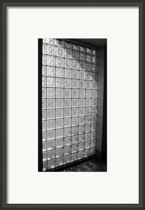 Glass Brick Window Framed Print By Tony Grider