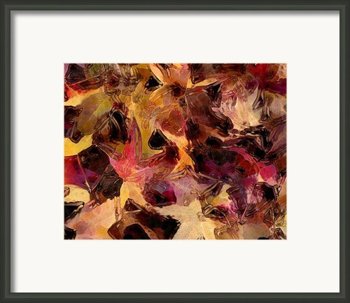 Glass Leaves Framed Print By Marilyn Sholin