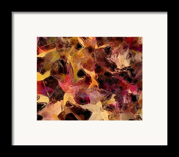 Glass Leaves Framed Print By Marilyn Sholin