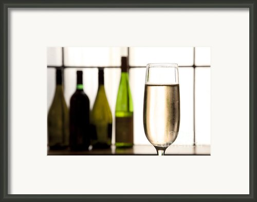 Glass Of Champagne Framed Print By Charlotte Lake