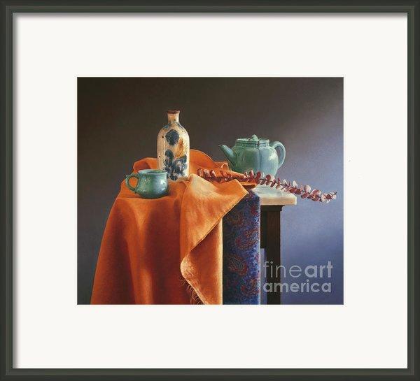 Glazed With Light Framed Print By Barbara Groff