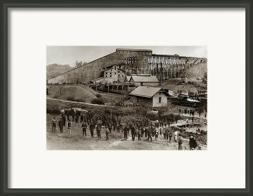 Glen Lyon Pa Susquehanna Coal Co Breaker Late 1800s Framed Print By Arthur Miller