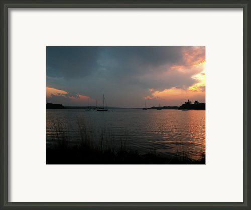 Glenmore Reservoir - Sunset 3 Framed Print By Stuart Turnbull