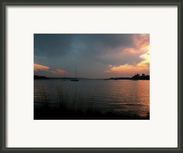 Glenmore Reservoir - Sunset 3 Framed Print By Stuart Turnbull