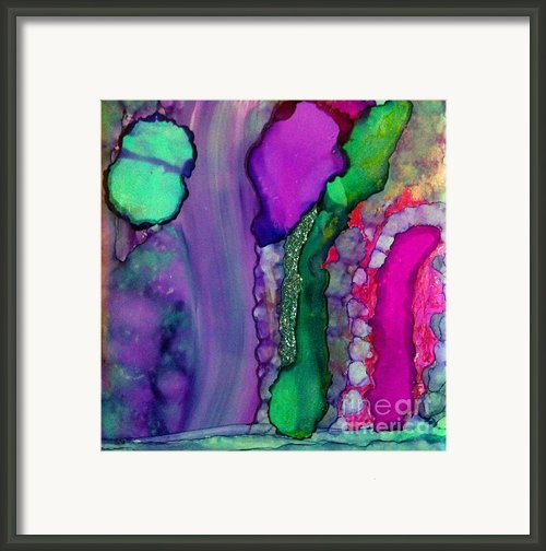 Glitter Green Framed Print By Joyce Auteri