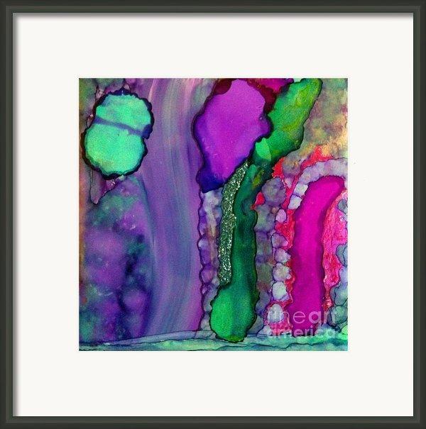 Glitter Green Framed Print By Joyce Auteri