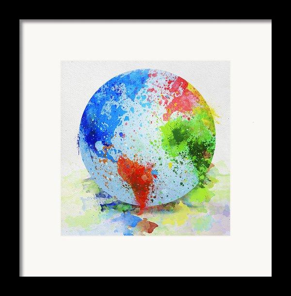 Globe Painting Framed Print By Setsiri Silapasuwanchai