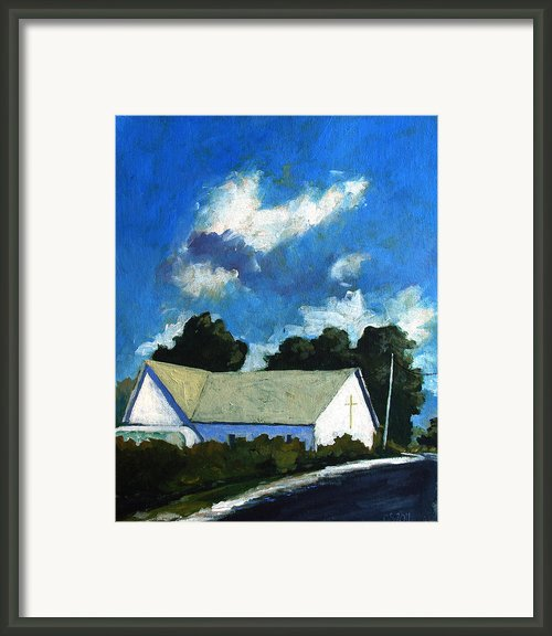 Glory Barn Framed Print By Charlie Spear