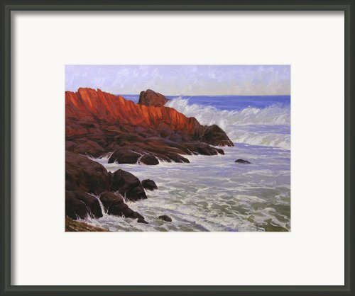 Gloucester Surf Framed Print By Cody Delong