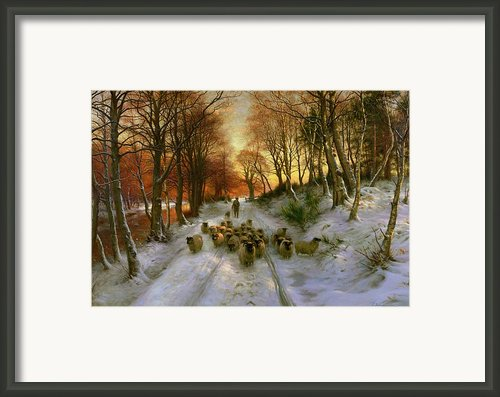 Glowed With Tints Of Evening Hours Framed Print By Joseph Farquharson