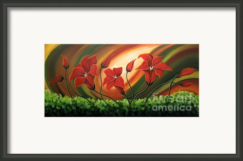 Glowing Flowers 4 Framed Print By Uma Devi